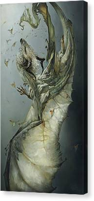 Dragon Fly Canvas Print - Etherium by Heather Theurer