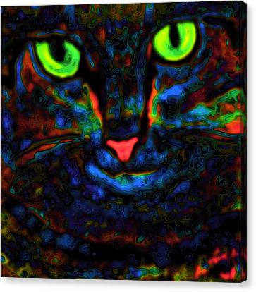 Ethical Kitty See's Your Dilemma Light 2 Dark Version Canvas Print