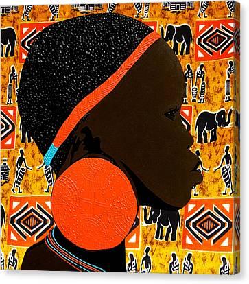 Ethiopian Girl 7 Canvas Print