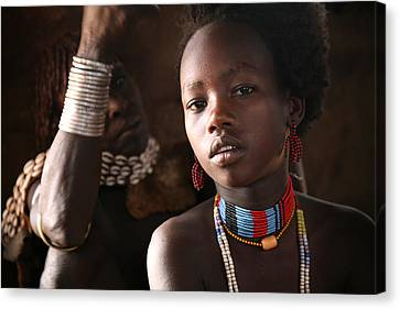 Ethiopian Hamer Girl Canvas Print