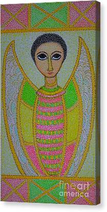 Ethiopian  Orthodox Angel Canvas Print by Assumpta Tafari Tafrow Neo-Impressionist Works on Paper