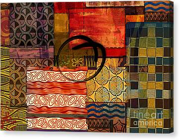 Indian Ink Canvas Print - Ethnic Abstract by Peter Awax