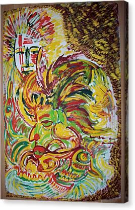 Ethnic Canvas Print by Helene  Champaloux-Saraswati