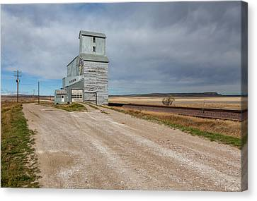 Ethridge Grain Elevator Canvas Print by Fran Riley