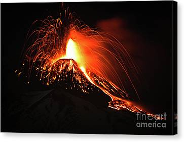 Canvas Print featuring the pyrography Etna by Bruno Spagnolo