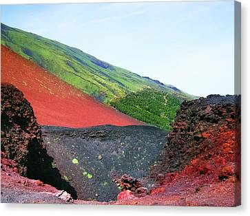 Etna Volcano Canvas Print by Nat Air Craft