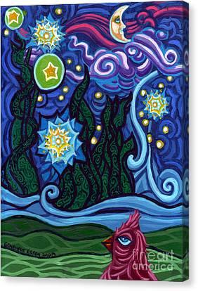 Etoile Noire Bleu Canvas Print