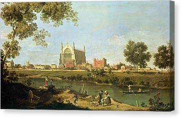 Eton College Canvas Print by Canaletto