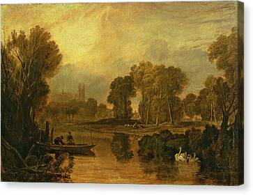 Eton College From The River Canvas Print by Joseph Mallord William Turner