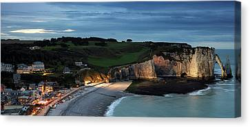 Etretat In The Evening Canvas Print by Nailia Schwarz