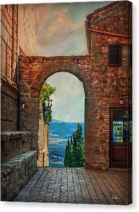 Canvas Print featuring the photograph Etruscan Arch by Hanny Heim