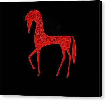 Etruscan Horse Canvas Print by Stephanie Moore
