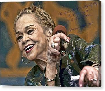 Etta James Canvas Print by Maciek Froncisz