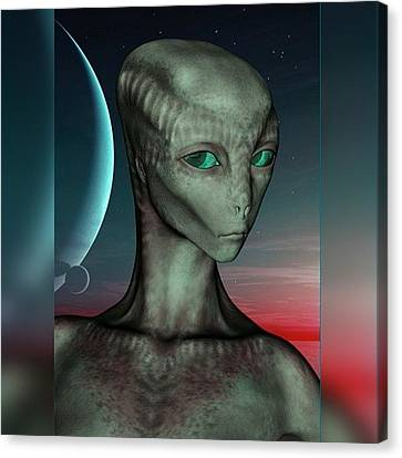 Alien Girl Canvas Print by Viaruss Ut-Gella