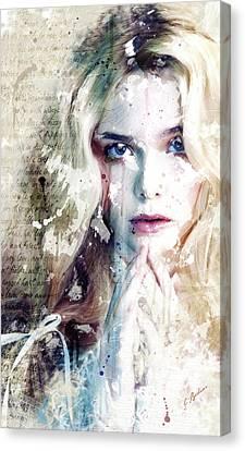 Etude Eliannah En Blanc Canvas Print by Gary Bodnar