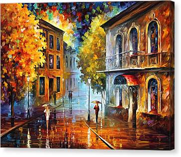 Etude In Red Canvas Print by Leonid Afremov