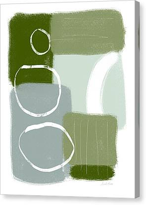 Nature Abstracts Canvas Print - Eucalyptus Breeze 1- Art By Linda Woods by Linda Woods