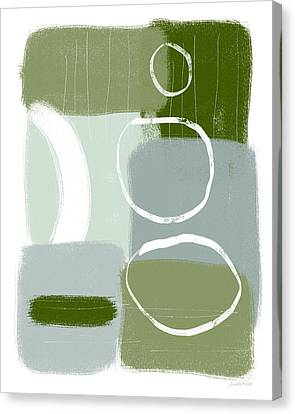 Nature Abstracts Canvas Print - Eucalyptus Breeze  2- Art By Linda Woods by Linda Woods