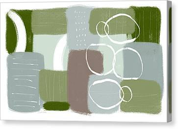 Nature Abstract Canvas Print - Eucalyptus Breeze 3- Art By Linda Woods by Linda Woods