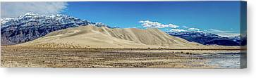Canvas Print featuring the photograph Eureka Dunes - Death Valley by Peter Tellone