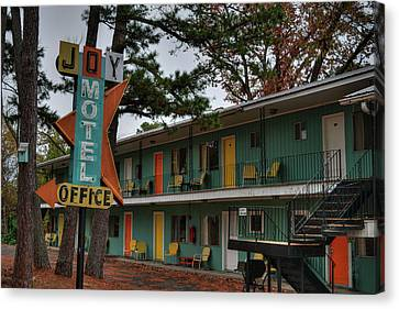 Canvas Print featuring the photograph Eureka Springs - Joy Motel 001 by Lance Vaughn