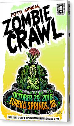 Eureka Springs Zombie Crawl 2016 Canvas Print