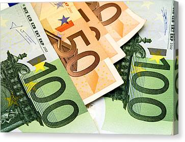 Banknotes Canvas Print - Euro Banknotes by Fabrizio Troiani