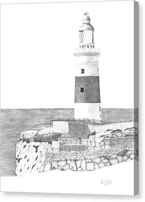 Europa Point Lighthouse Canvas Print