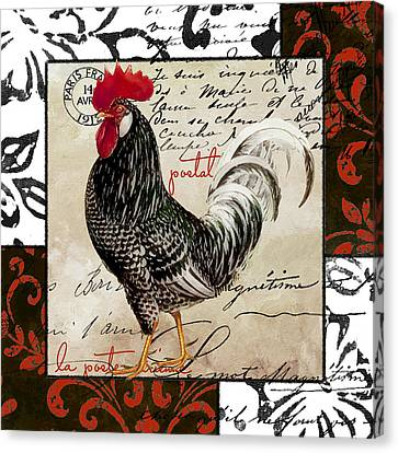 Europa Rooster IIi Canvas Print by Mindy Sommers
