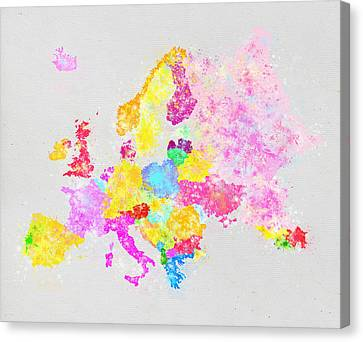 Europe Map Canvas Print