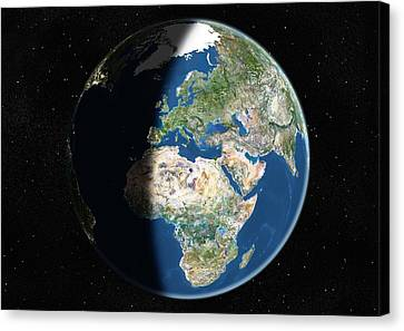 Europe, Satellite Image Canvas Print by Planetobserver