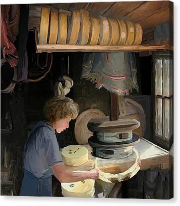 European Cheesemaker Canvas Print by Carol Peck