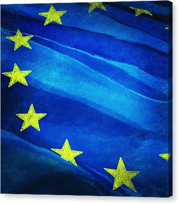 European Flag Canvas Print by Setsiri Silapasuwanchai