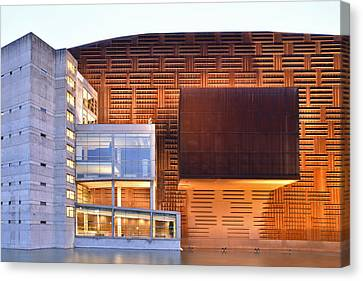 Canvas Print featuring the photograph Euskalduna Center Bilbao Spain by Marek Stepan