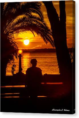 Canvas Print featuring the photograph Eustis Sunset by Christopher Holmes
