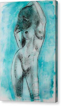Canvas Print featuring the painting EVA by Jarko Aka Lui Grande