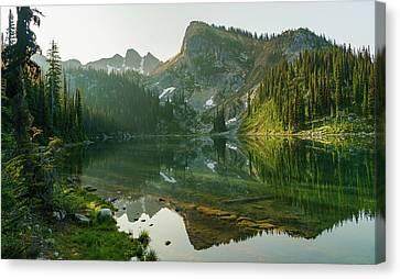 Eva Lake At Dawn Canvas Print