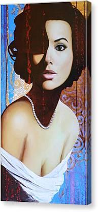 Eva Longoria Canvas Print by Spartak Sharipov