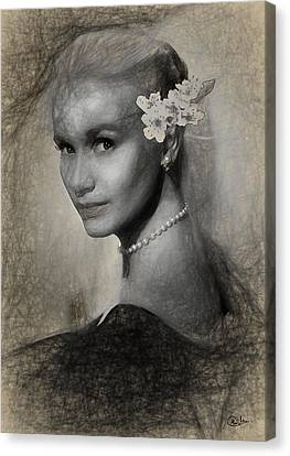 Eva Marie Saint Canvas Print by Quim Abella