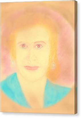 Eva Peron Soft Focus Gold Canvas Print by Richard W Linford