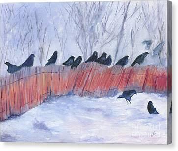 Evanston Crow Roost Canvas Print by Barb Kirpluk