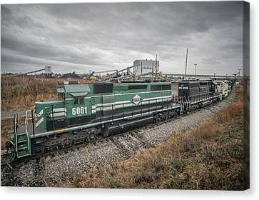 Evansville Western Railway At Warrior Coal With 6001 Nebo Ky Canvas Print by Jim Pearson