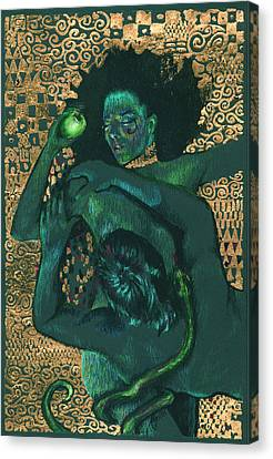 Canvas Print featuring the painting Eve by Ragen Mendenhall