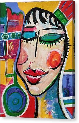 Evelyn - Vivid Vixen 5 Canvas Print