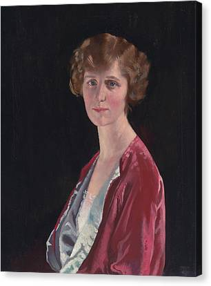Evelyn Marshall Field Canvas Print by William Orpen