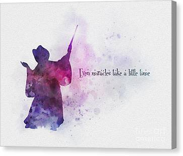 Fairy Canvas Print - Even Miracles Take A Little Time by Rebecca Jenkins
