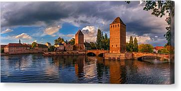 Canvas Print featuring the photograph Evening After The Rain On The Ponts Couverts by Dmytro Korol