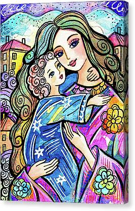 Canvas Print featuring the painting Evening Angel by Eva Campbell