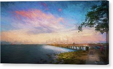 Evening At Ballast Point Canvas Print by Marvin Spates