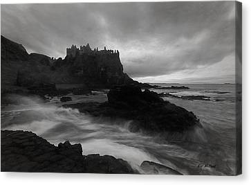 Canvas Print featuring the photograph Evening At Dunluce by Roy  McPeak